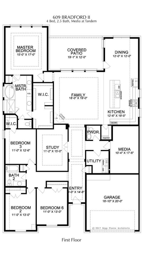 Landon Homes Plan 609 Bradford II First Floor in Canyon Falls