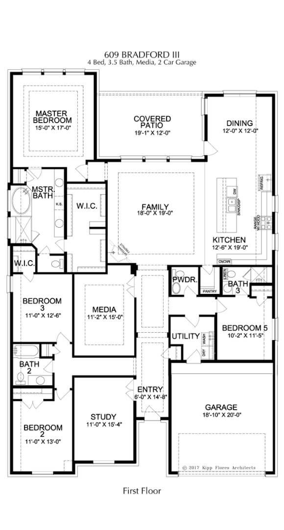 Landon Homes Plan 609 Bradford III First Floor in Canyon Falls