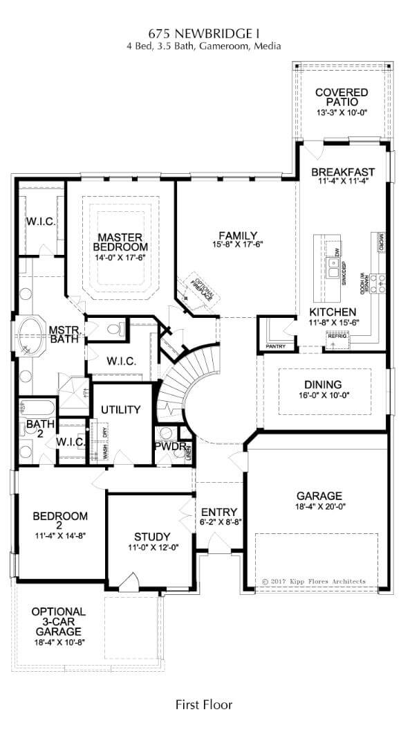 Landon Homes Plan 675 Newbridge I First Floor in Canyon Falls