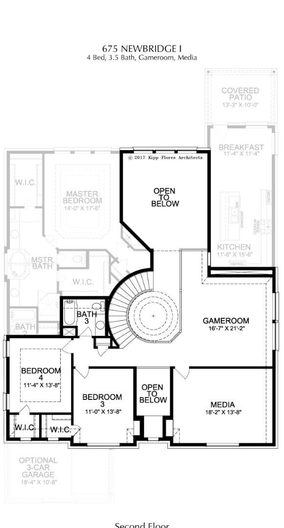Landon Homes Plan 675 Newbridge I Second Floor in Canyon Falls
