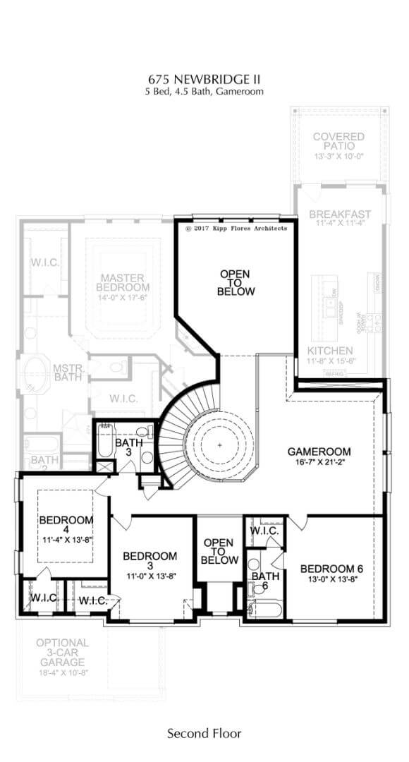 Landon Homes Plan 675 Newbridge II Second Floor in Canyon Falls