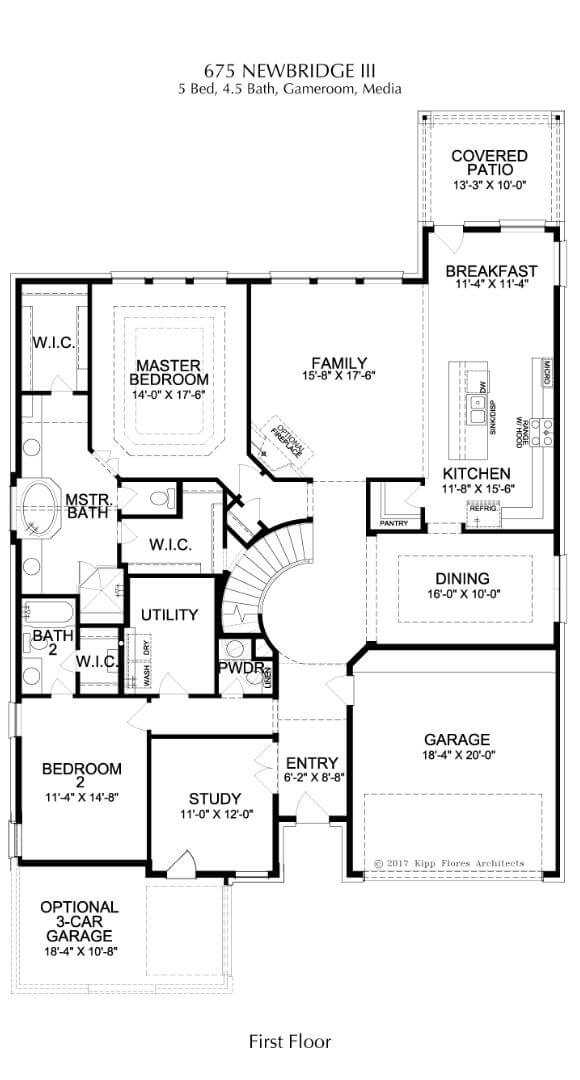 Landon Homes Plan 675 Newbridge III First Floor in Canyon Falls