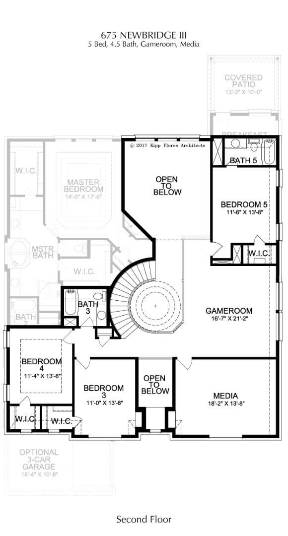 Landon Homes Plan 675 Newbridge III Second Floor in Canyon Falls