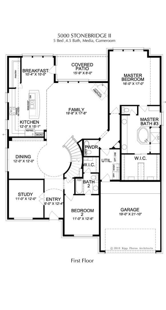 Landon Homes Plan 5000 Stonebridge II First Floor in Canyon Falls