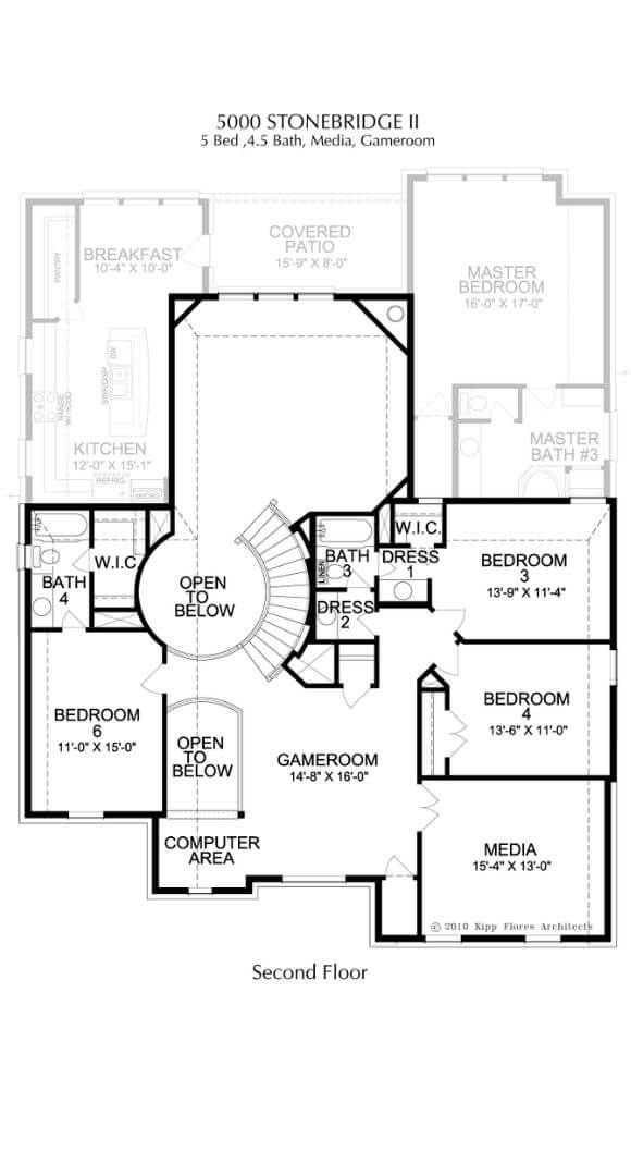 Landon Homes Plan 5000 Stonebridge II Second Floor in Canyon Falls