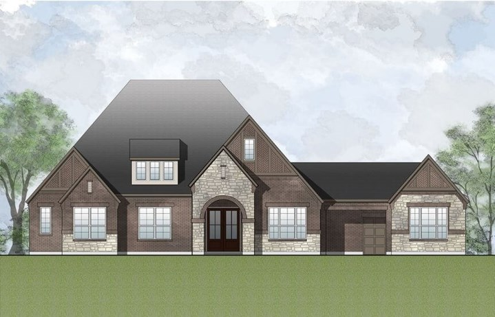 Drees Homes Plan Caden Elevation A in Canyon Falls