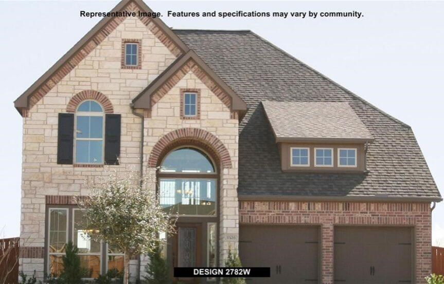 Perry Homes Plan 2782 Elevation in Canyon Falls
