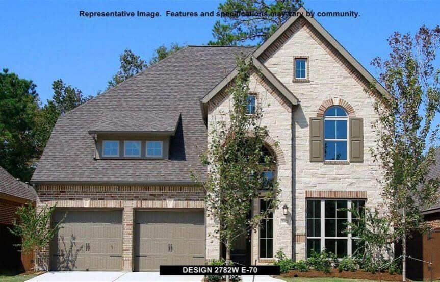 Perry Homes Plan 2782 Elevation E70 in Canyon Falls