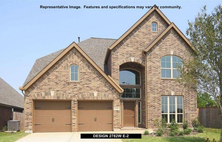 Perry Homes Plan 2782 Elevation E2 in Canyon Falls