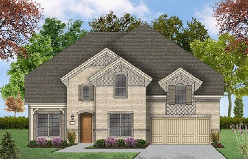 Coventry Homes Plan 3341 Elevation A in Canyon Falls