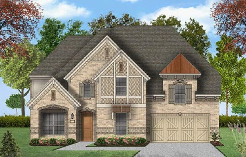 Coventry Homes Plan 3341 Elevation C in Canyon Falls
