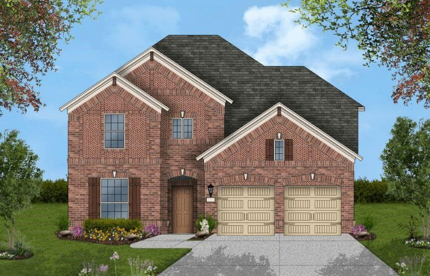 Coventry Homes Plan 3203 Elevation B in Canyon Falls