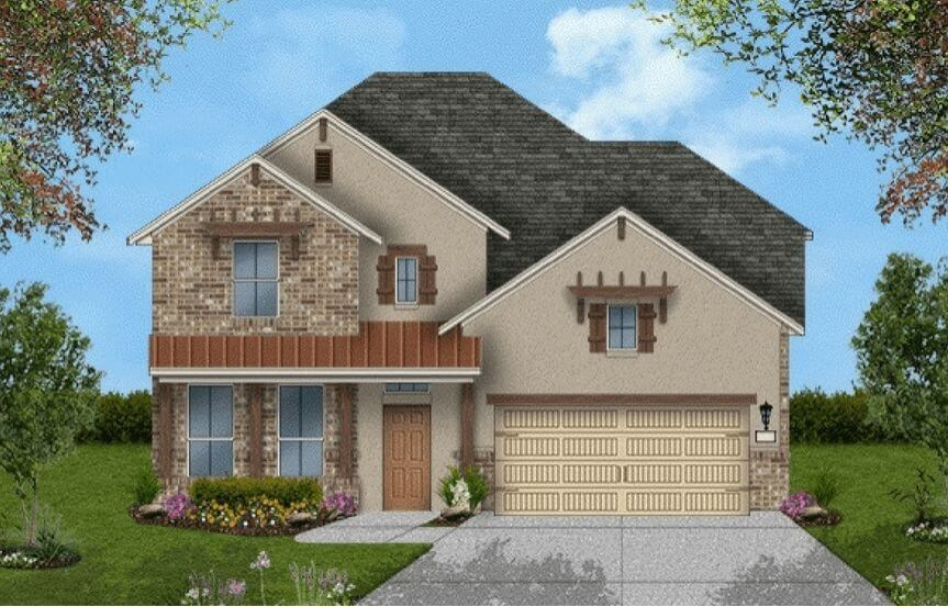 Coventry Homes Plan 3203 Elevation in Canyon Falls