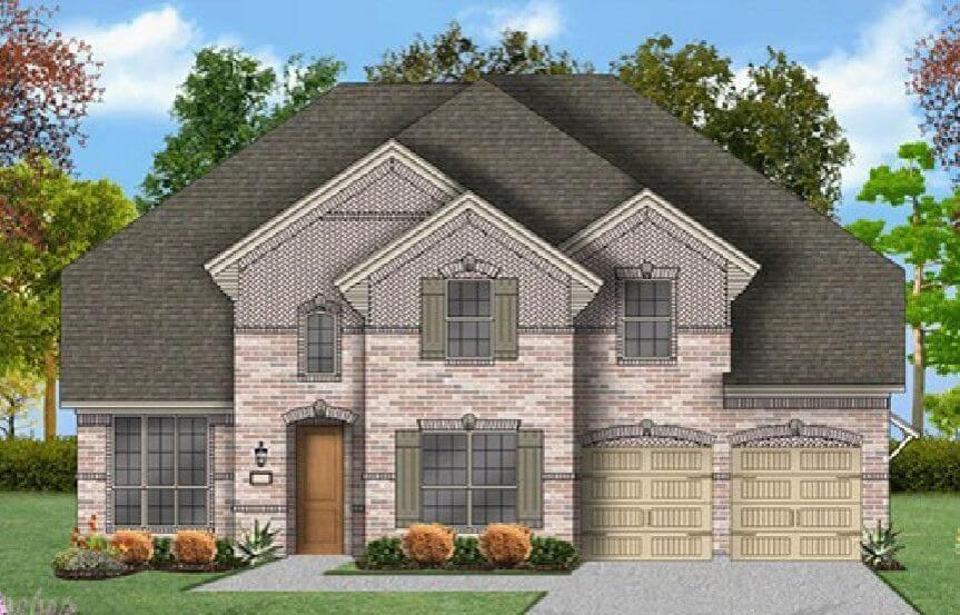 Coventry Homes Plan 3360 Elevation B in Canyon Falls