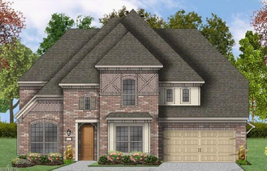 Coventry Homes Plan 3360 Elevation C in Canyon Falls