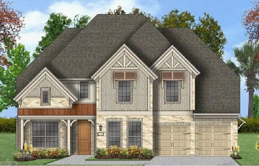 Coventry Homes Plan 3360 Elevation E in Canyon Falls
