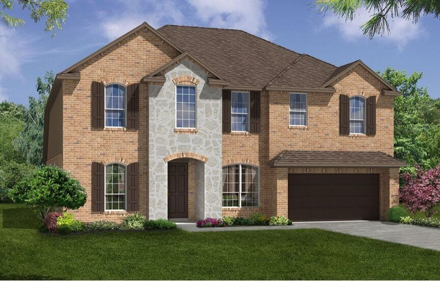 Meritage Homes Plan Bluebonnet Elevation A in Canyon Falls