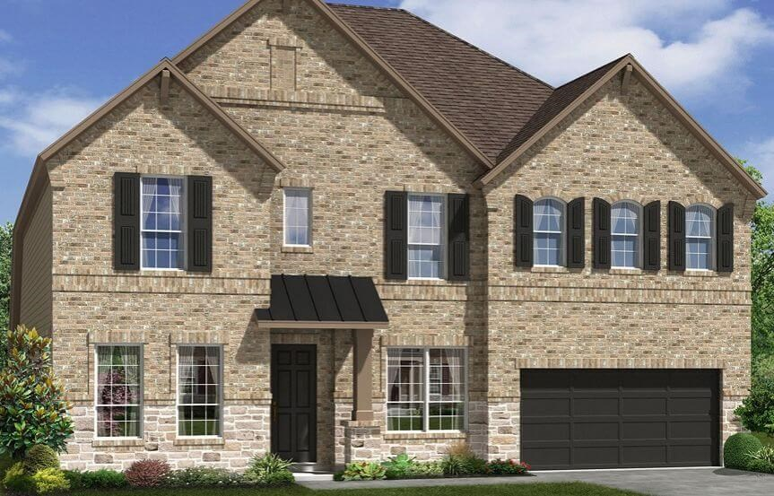 Meritage Homes Plan Bluebonnet Elevation B in Canyon Falls