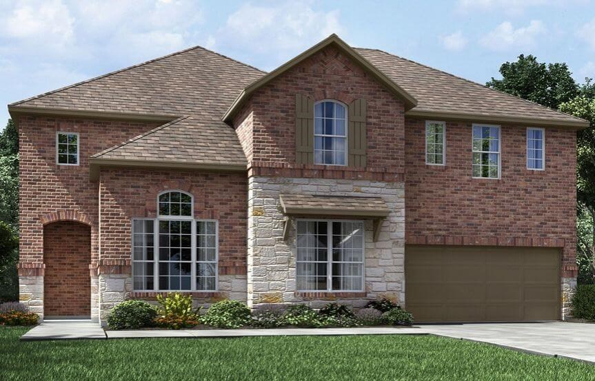 Meritage Homes Plan Huntley Elevation A in Canyon Falls