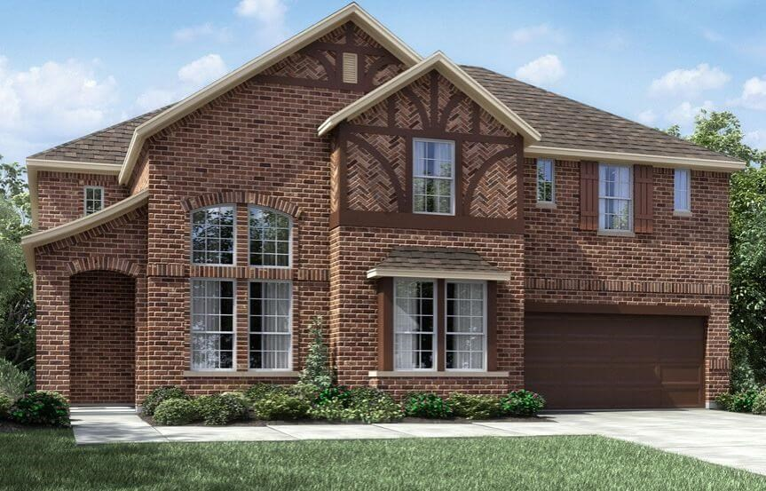 Meritage Homes Plan Huntley Elevation B in Canyon Falls