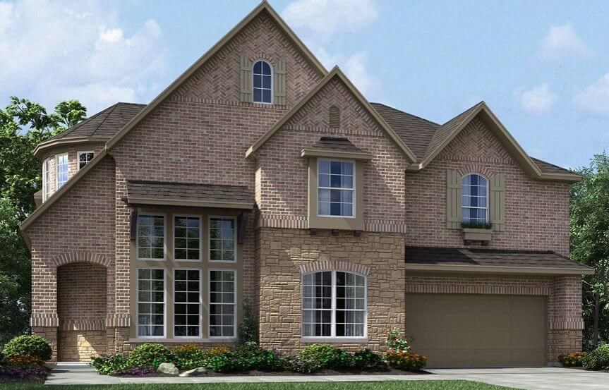 Meritage Homes Plan Huntley Elevation C in Canyon Falls