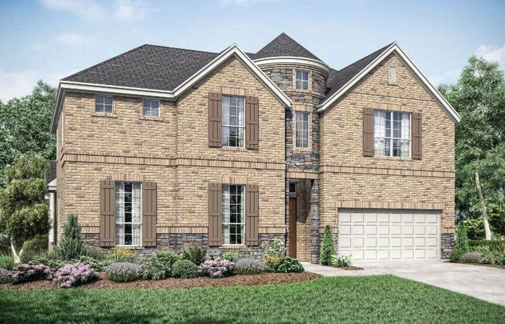 Landon Homes Newbridge Elevation A in Canyon Falls
