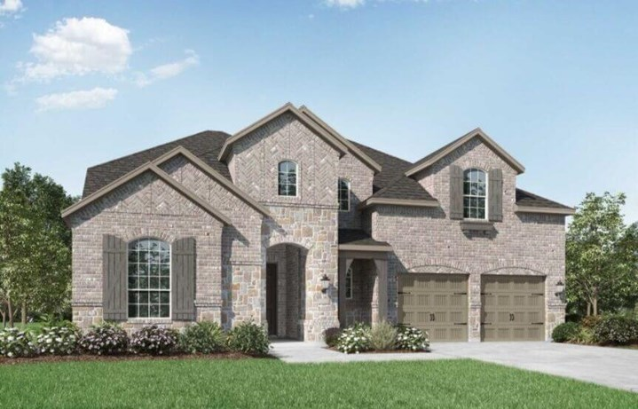 Highland Homes Plan 247 Elevation A in Canyon Falls