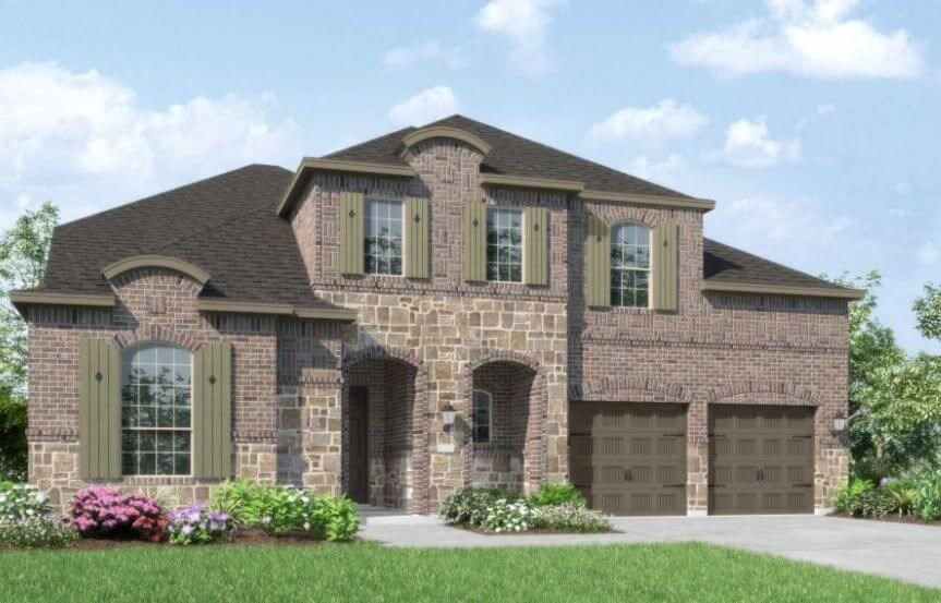 Highland Homes Plan 247 Elevation L in Canyon Falls