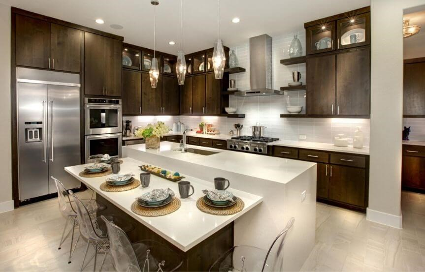 Drees Homes Plan Castella Kitchen in Canyon Falls
