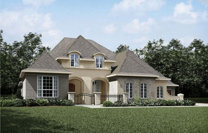 Drees Homes Plan Lauren Elevation B in Canyon Falls