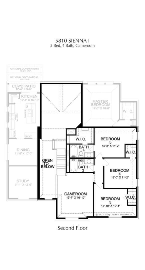 Landon Homes Plan 5810 Sienna I Second Floor in Canyon Falls