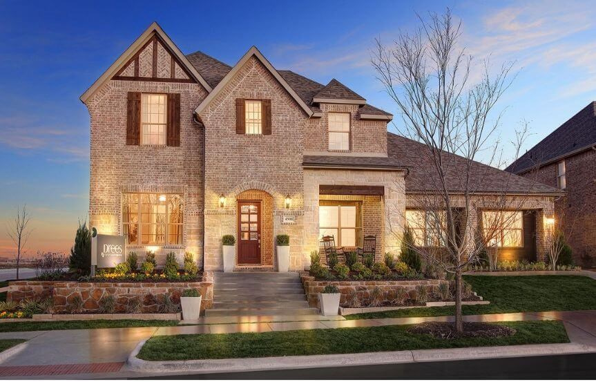 Drees Homes Plan Tanner Exterior in Canyon Falls