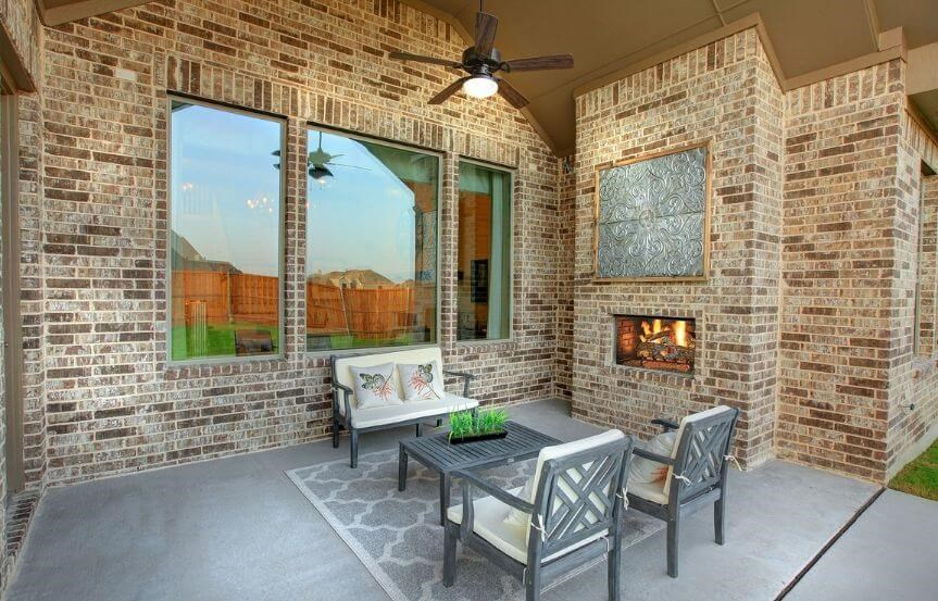 Drees Homes Plan Tanner Patio in Canyon Falls