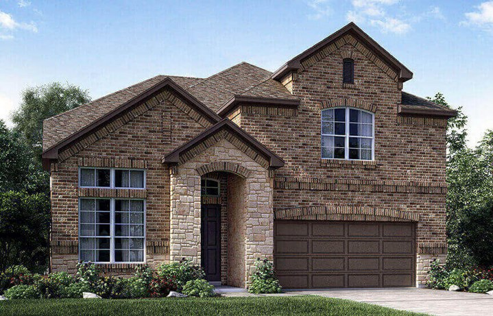 Meritage Homes Plan Hickory Elevation 1 in Canyon Falls