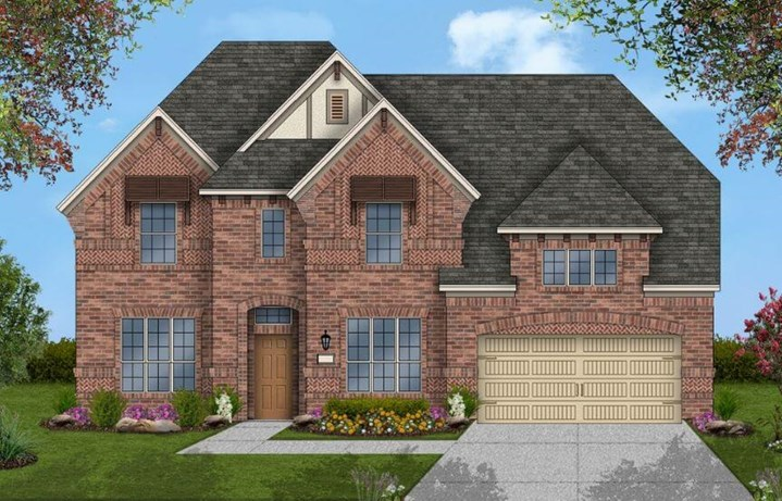 Coventry Homes Plan 2889 Elevation C in Canyon Falls