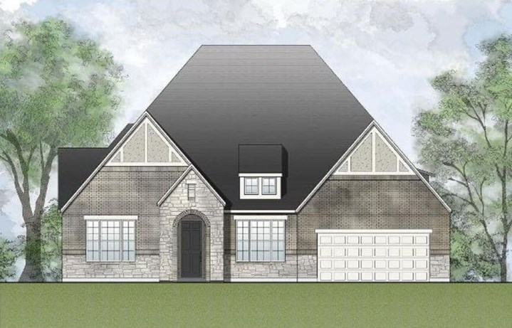 Drees Homes Plan Presley Elevation in Canyon Falls