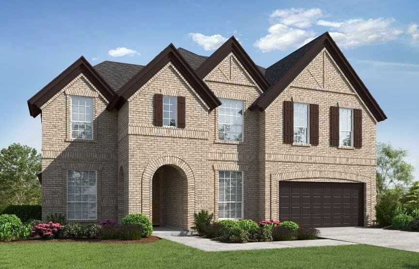 Landon Homes Venetian Elevation B in Canyon Falls