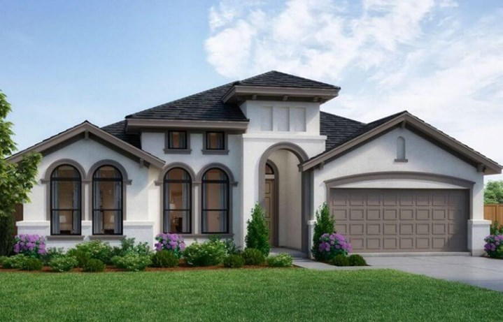 Landon Homes Plan Bradford Elevation B in Canyon Falls