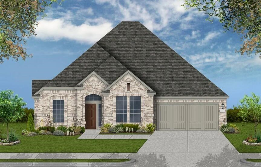 Coventry Homes Plan 2878 Elevation A in Canyon Falls