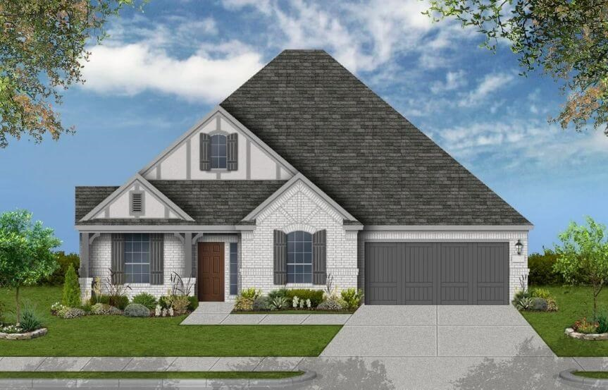 Coventry Homes Plan 2878 Elevation B in Canyon Falls