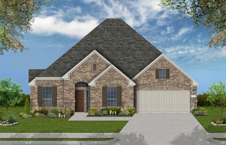 Coventry Homes Plan 2878 Elevation C in Canyon Falls
