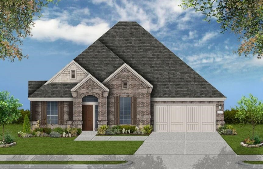 Coventry Homes Plan 2878 Elevation D in Canyon Falls