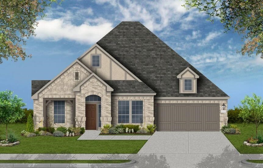 Coventry Homes Plan 2878 Elevation E in Canyon Falls