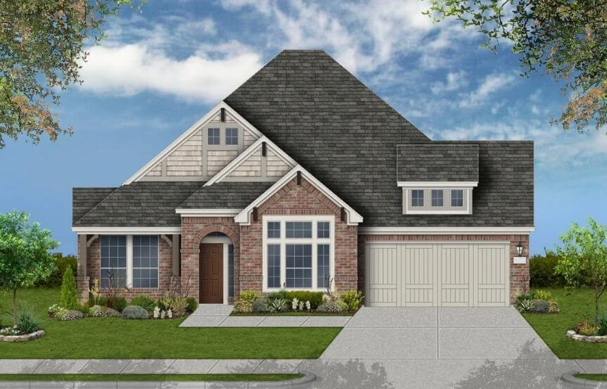 Coventry Homes Plan 2878 Elevation F in Canyon Falls