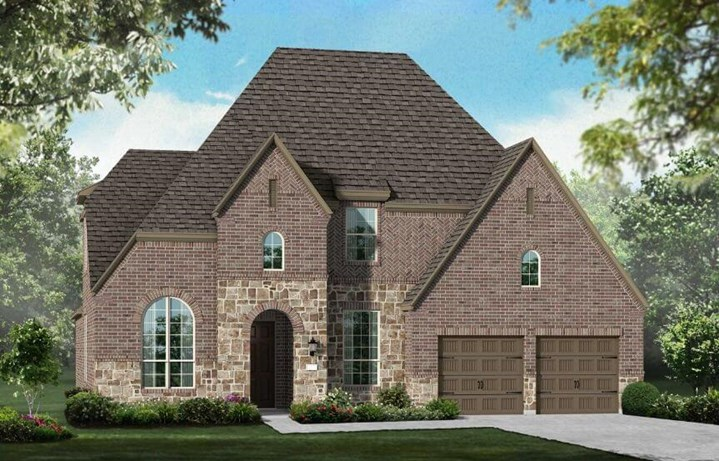 Highland Homes Plan 208 Elevation D in Canyon Falls