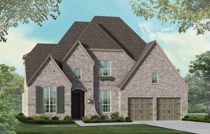 Highland Homes Plan 208 Elevation E in Canyon Falls