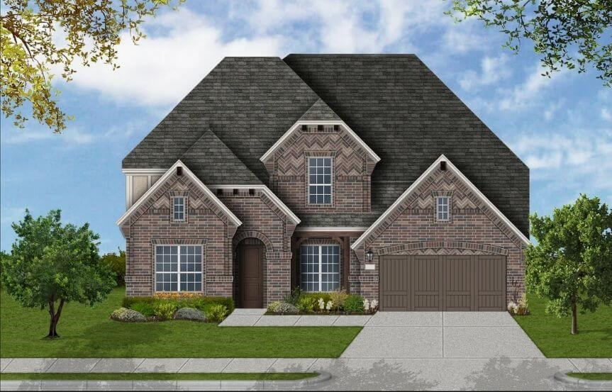 Coventry Homes Plan 4226 Elevation C in Canyon Falls