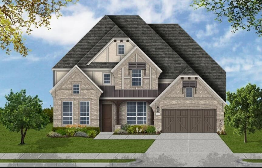 Coventry Homes Plan 4226 Elevation E in Canyon Falls
