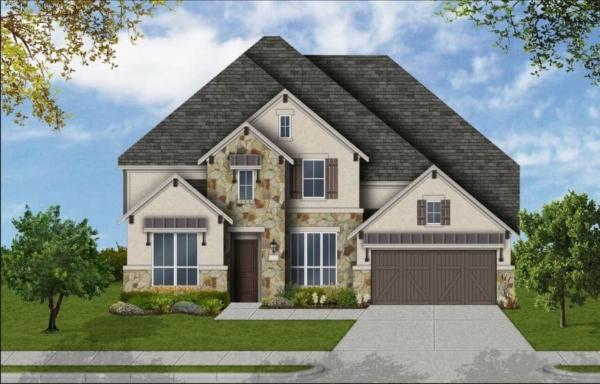 Coventry Homes Plan 4226 Elevation F in Canyon Falls