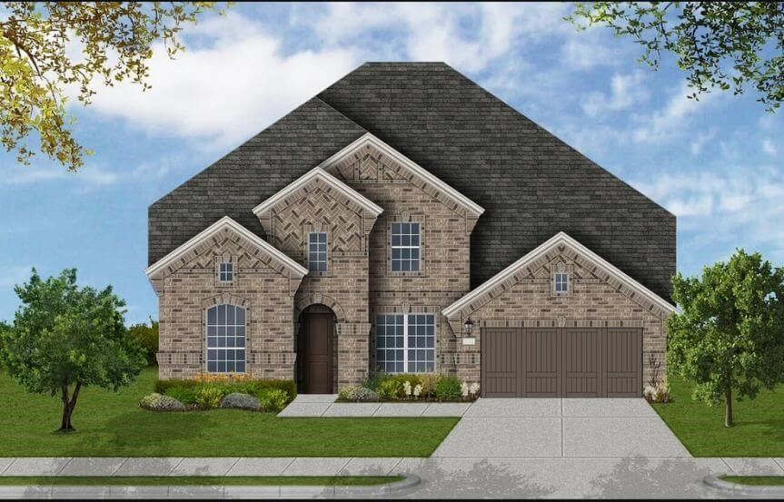 Coventry Homes Plan 4226 Elevation A in Canyon Falls